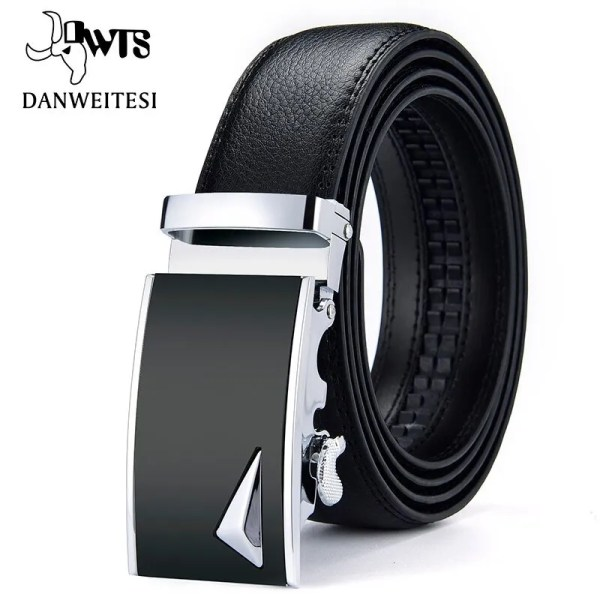 Men Luxury Leather Belt with Automatic Buckle 2
