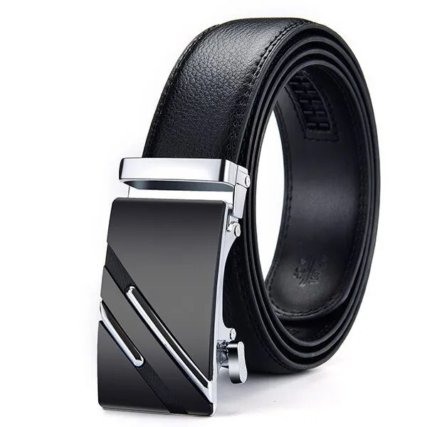 Men Luxury Leather Belt with Automatic Buckle 17