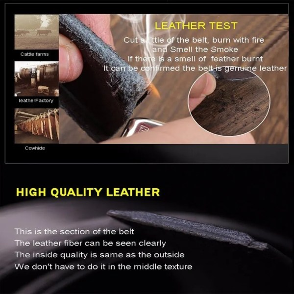 Men Luxury Leather Belt with Automatic Buckle 6