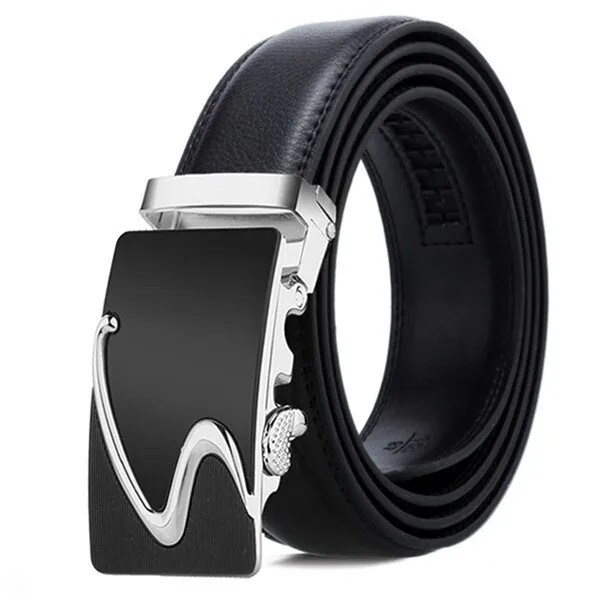 Men Luxury Leather Belt with Automatic Buckle 18