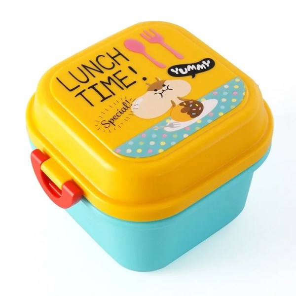 Children Cartoon Style Healthy Plastic Microwave Lunch Box 11
