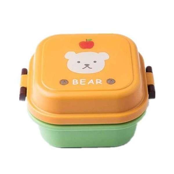 Children Cartoon Style Healthy Plastic Microwave Lunch Box 8