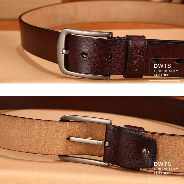 Men Genuine Leather Jeans Belt 3