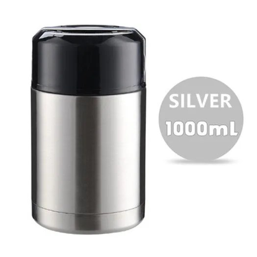 Large Capacity 600ML/800ML/1000ML Thermos Lunch Boxes Portable Stainless Steel 15