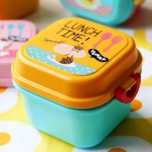 Children Cartoon Style Healthy Plastic Microwave Lunch Box