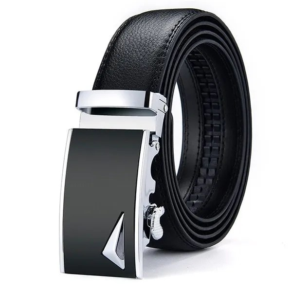Men Luxury Leather Belt with Automatic Buckle 19