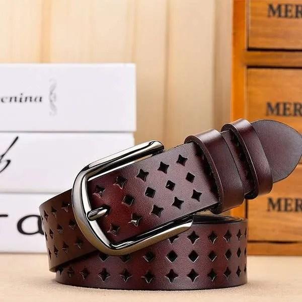 Women Genuine Leather Quality Alloy Fashion Belt for Women 7