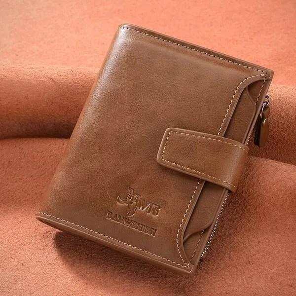 Vintage Men PU Cowhide Leather Multi-Functional Wallet 6