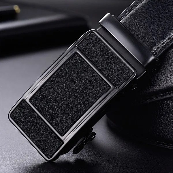 Men Luxury Leather Belt with Automatic Buckle 14