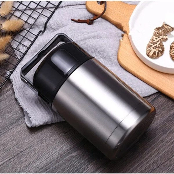 Large Capacity 600ML/800ML/1000ML Thermos Lunch Boxes Portable Stainless Steel 2