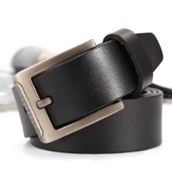 Men's Genuine Leather Fashion Belt with Pin Buckle 12
