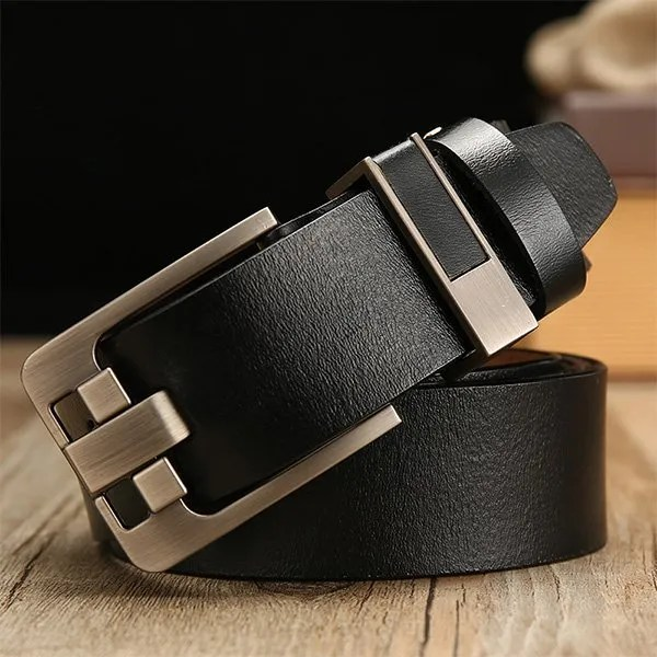Men's Genuine Leather Belt with Luxury Pin Buckle 7