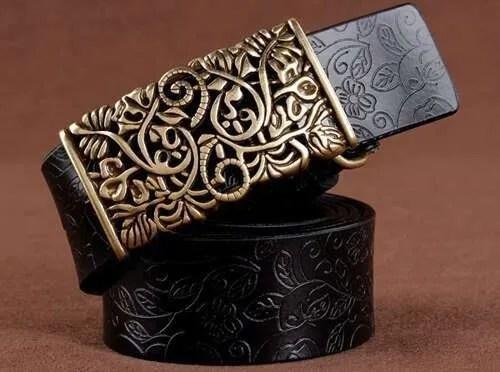 Women Fashion Luxury Genuine Top Quality Leather Belt 8