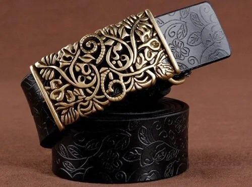 Hand Woven Real Leather Women Casual Belt 8