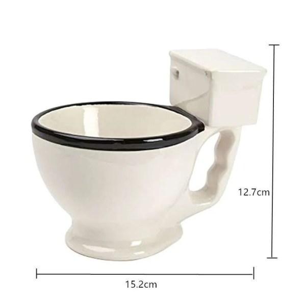 Novelty Toilet Ceramic Mug 300 ml 5