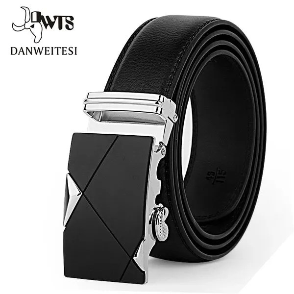 Men Luxury Leather Belt with Automatic Buckle 7
