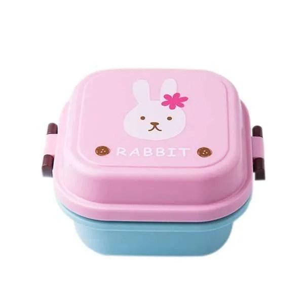 Children Cartoon Style Healthy Plastic Microwave Lunch Box 9