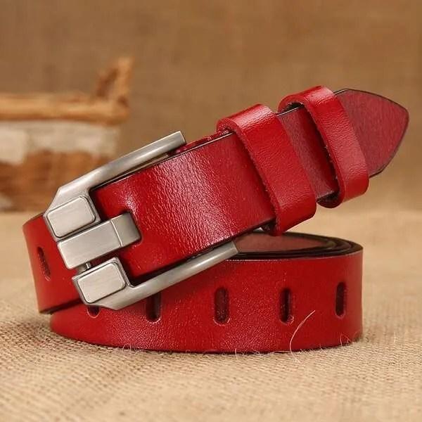 Women Designer Fashion Leather Belt 8