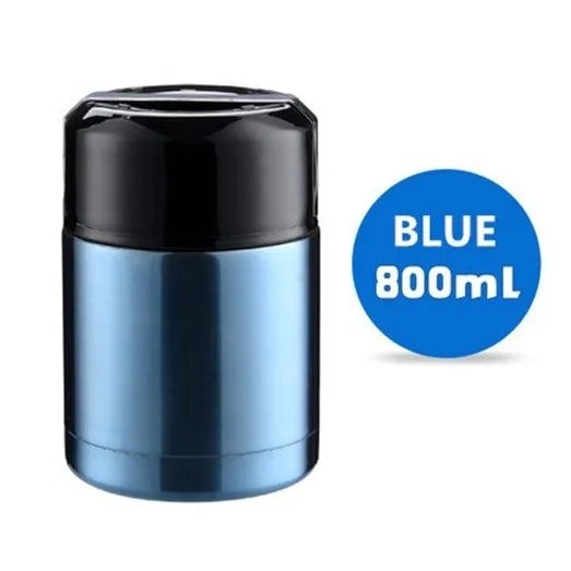 Large Capacity 600ML/800ML/1000ML Thermos Lunch Boxes Portable Stainless Steel 10