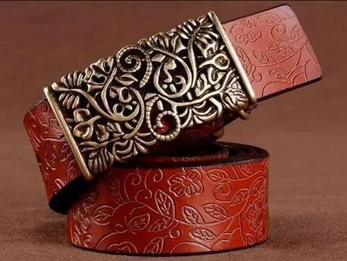 Women Fashion Luxury Genuine Top Quality Leather Belt 11