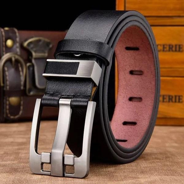 Men's Genuine Cowhide Leather Belt 4