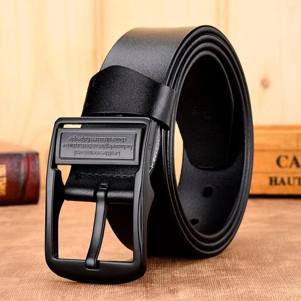 Men's Genuine Leather Belt with Luxury Pin Buckle 10