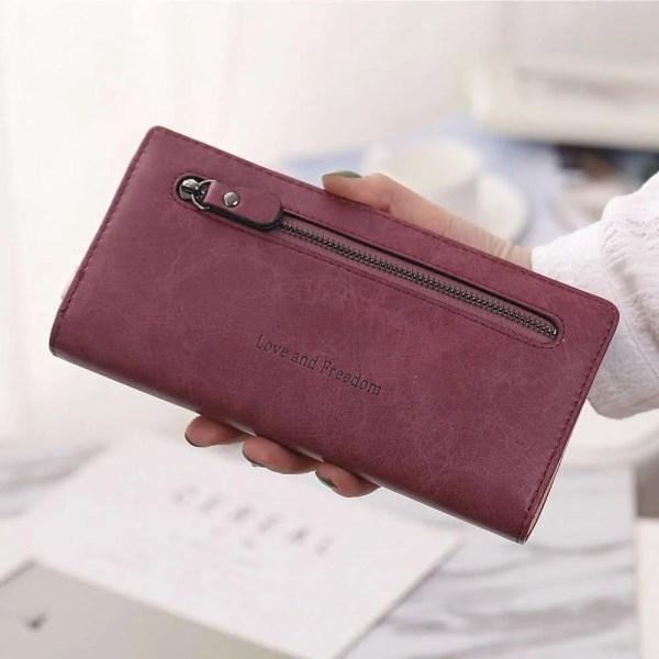 Women Fashion PU Leather Long Wallet 5