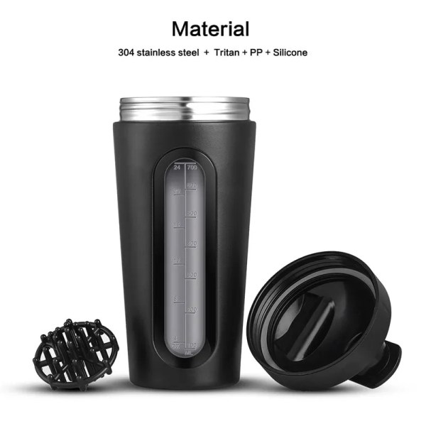 Durable Stainless Steel 700 ml Protein Shaker Water Bottle 3