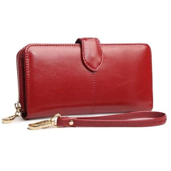 Women Coin Purse Long Leather Wallet