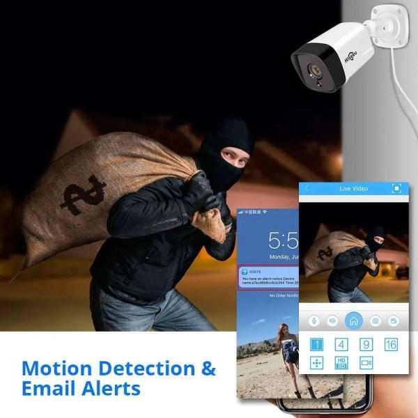 Hiseeu 5MP 2MP Surveillance POE IP Outdoor Security Camera 4