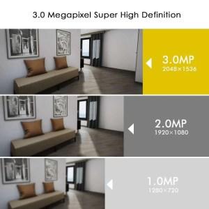 Hiseeu Ultra HD 3MP 1080P Security Camera