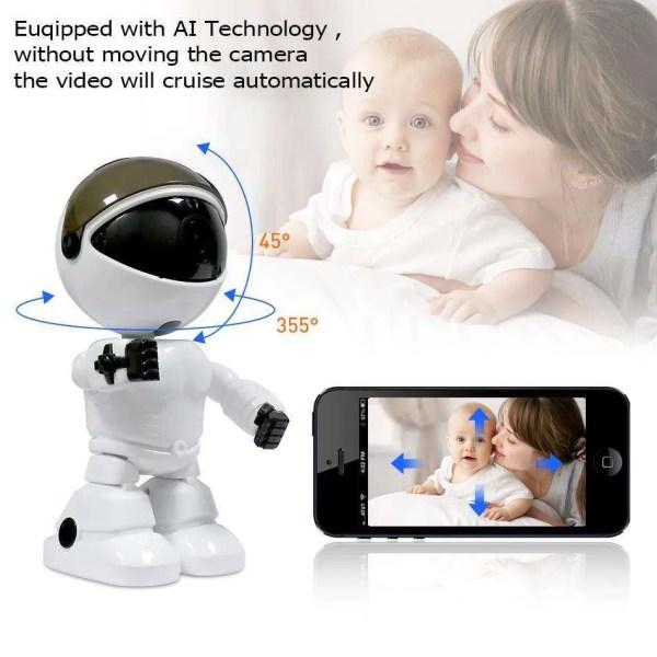 Hiseeu 2MP HD Wireless IP Wifi 1080P Robot Camera 1