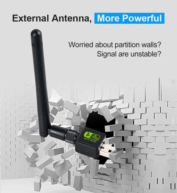 USB WiFi Adapter Ralink Wi-Fi Antenna Lan USB Ethernet Dongle 4