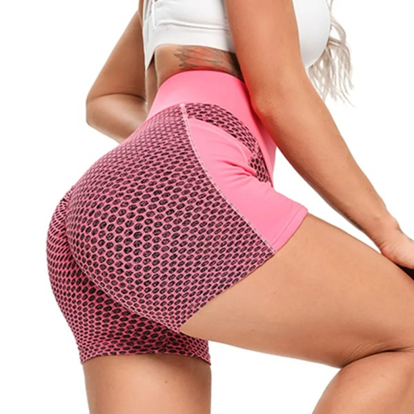 Women Mesh Push Up Gym Shorts 3