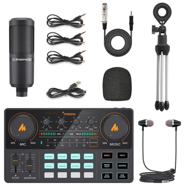 Podcasting Set with Audio Interface and Condenser Microphone 6
