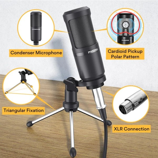 Podcasting Set with Audio Interface and Condenser Microphone 5