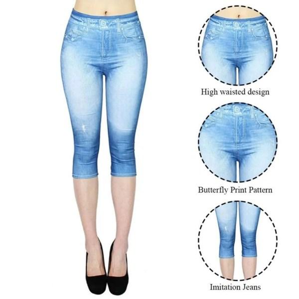 Women Summer Leggings Jeans Style 4
