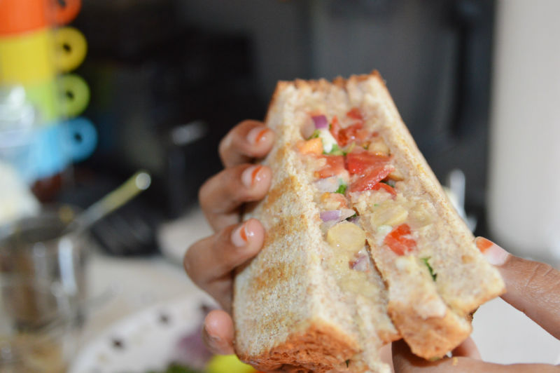 Masala Grilled cheese sandwich