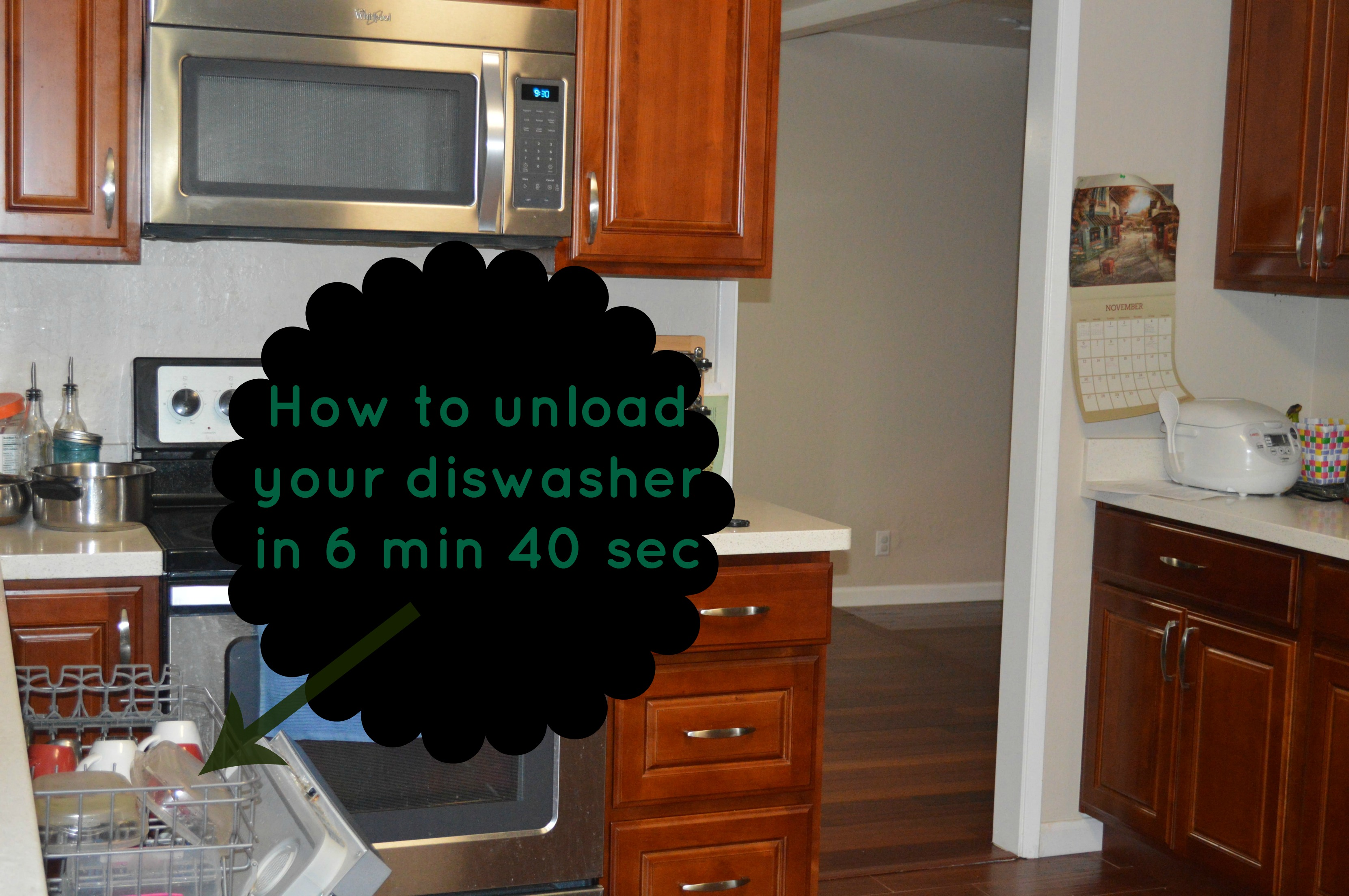 How I unload my dishwasher in 6 min 40 sec...Find out more at www.upgrademyfood.com