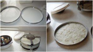 Idlis using dokla maker