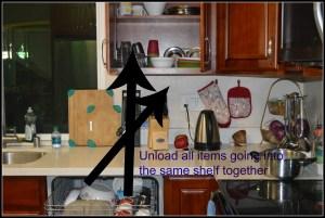Unload shelf by shelf