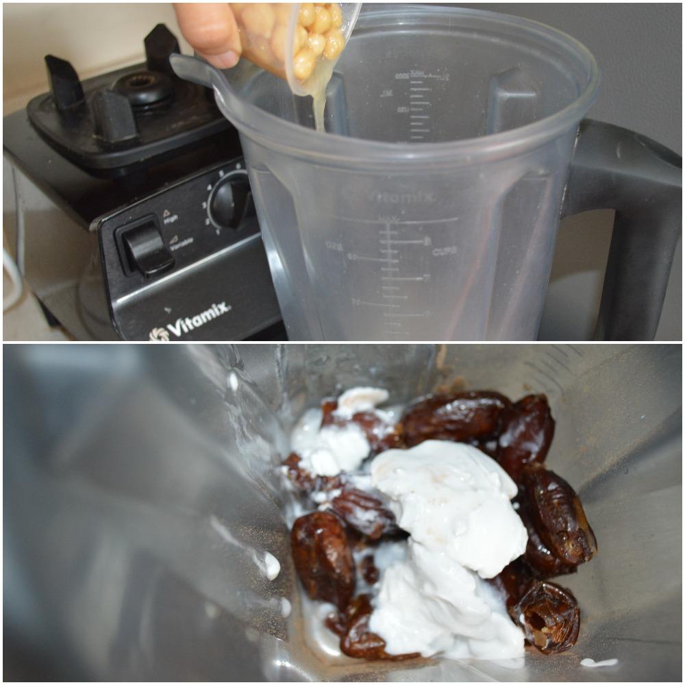 Chocolate chickpea date pudding, www.upgrademyfood.com