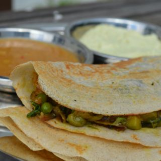 Masala dosa healthy low calorie, www.upgrademyfood.com