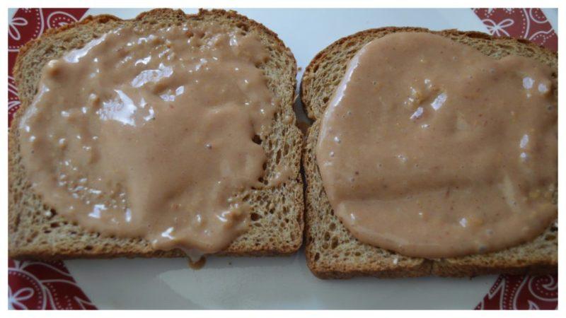 Bread with healthy PB&J