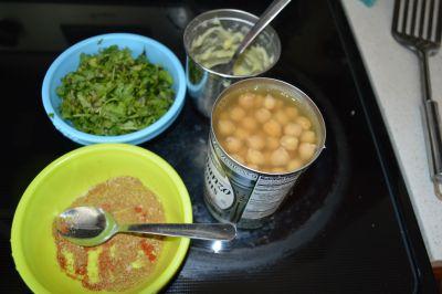 Chana Masala Taco Ingredients