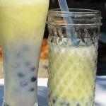 Honey dew boba bubble tea