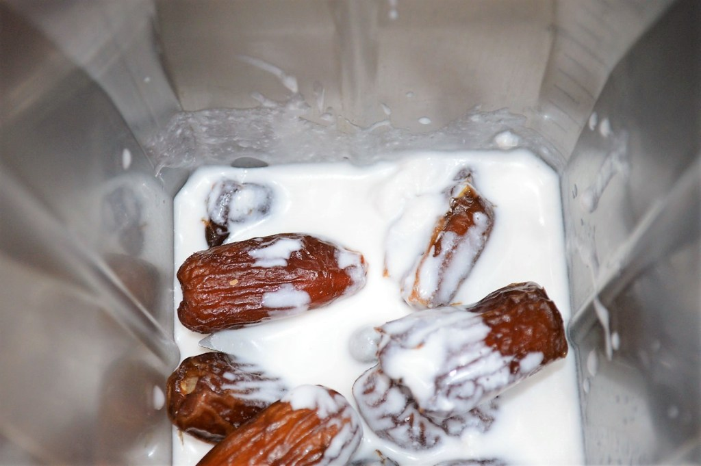 Dates and Coconut milk in blender