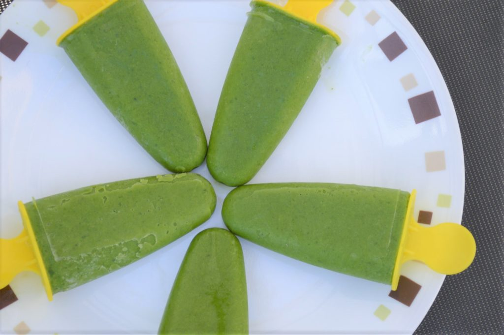 Spinach popsicles