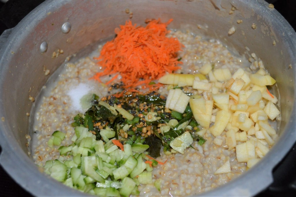 Adding veggies to oats