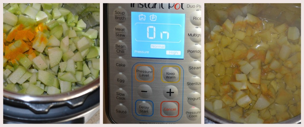 Chayote Squash in instant pot